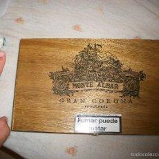 Cajas de Puros: CAJA DE PUROS DE LUJO DE GRAN TAMAÑO LACADA Y BUEN MATERIAL COMO NUEVA MONTE ALBAR!MIRAR!. Lote 58466167