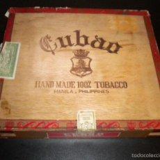 Cajas de Puros: CAJA DE PUROS CUBAO / MANILA, FILIPINAS / 25 MONARCAS / VACIA. Lote 59751320