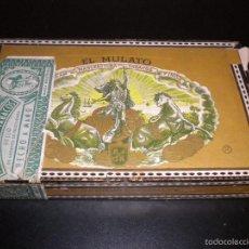 Cajas de Puros: CAJA DE PUROS EL MULATO / ESPECIAL DE LUJO CEDROS / 25 CEDROS ESPECIALES / VACIA. Lote 59751716