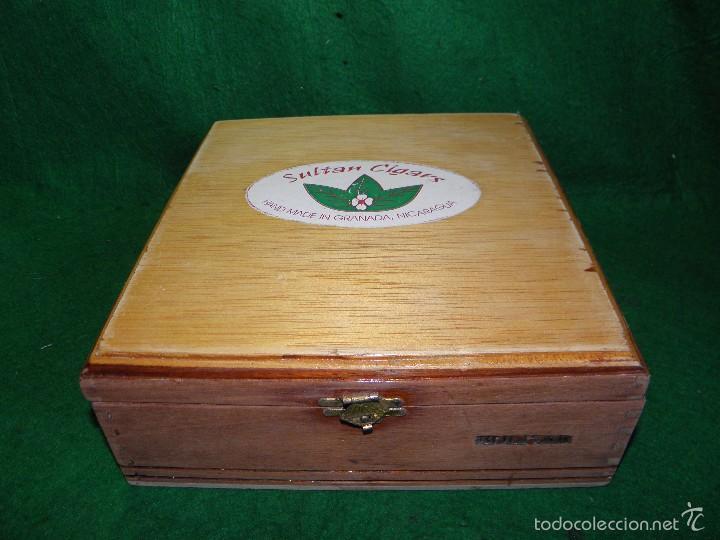 CAJA DE PUROS SULTAN CIGARS - BOLIVAR - GRANADA - NICARAGUA (Coleccionismo - Objetos para Fumar - Cajas de Puros)