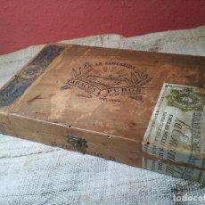 Cajas de Puros: ANTIGUA CAJA DE PUROS ( EN MADERA ).LA ESMERALDA- EMILIO MELIAN . Lote 62419452