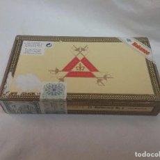 Cajas de Puros: CAJA DE MADERA VACIA DE PUROS MONTECRISTO - 25 MONTECRISTO N° 5 - HABANA , CUBA . Lote 63666163