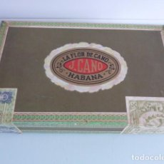 Cajas de Puros: CAJA DE PUROS VACIA LA FLOR DE CANO, HABANA, DE PETIT CORONAS. Lote 64241715