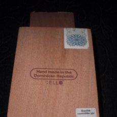 Cajas de Puros: CAJA PUROS TAPA MADERA CABINET DAVIDOFF 2000 Y 5000 REPUBLICA DOMINICANA 15 X10 X10 CM. Lote 112361056