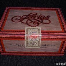 Cajas de Puros: CAJA PUROS TAPA CARTON FARIAS SUPERIORES 50 - 16,5 X12 X 7,5 CM ALTADIS VINTAGE. Lote 135881830