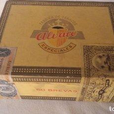 Cajas de Puros: CAJA CAJITA EN MADERA DE TABACO PURO PUROS ALVARO.. Lote 66776110