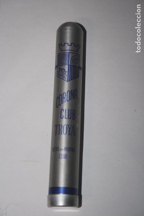 ANTIGUA FUNDA DE PURO CORONA CLUB TROYA - VACIA (Coleccionismo - Objetos para Fumar - Cajas de Puros)
