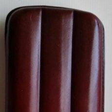 Cajas de Puros: PURERA DE PIEL PARA TRES PUROS DON PURO. Lote 159576396