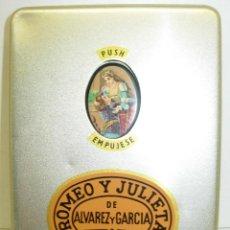 Cajas de Puros: ANTIGUA CAJA ROMEO Y JULIETA DE ALVAREZ GARCIA,HAVANA,CUBA,CON PUROS ALVARO Y FLOR DE CANO. Lote 69002101