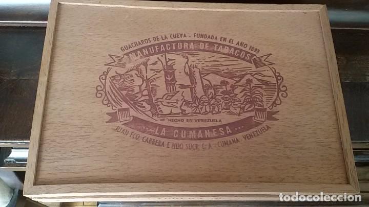 CAJA DE PUROS VACIA DE MADERA CABRERA Nº 3.LA CUMANESA.VENEZUELA (Coleccionismo - Objetos para Fumar - Cajas de Puros)