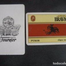 Cajas de Puros: TABACO PUROS BRAVIOS. CARTA POKER, JOKER, MONO, COMODIN DE BARAJA. . Lote 71191873