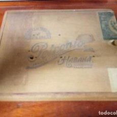 Cajas de Puros: CAJA DE PUROS PETRONIO - FABRICA DE TABACO DE VUELTA ABAJO- HABANA - LEY DE JULIO 16/1912. Lote 75580307