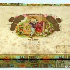 Cajas de Puros: CAJA PUROS VACÍA ROMEO Y JULIETA HABANA CUBA MADERA. Lote 75614843