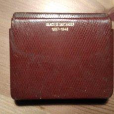 Cajas de Puros: PITILLERA PIEL BANCO SANTANDER 1857- 1948. Lote 75814375