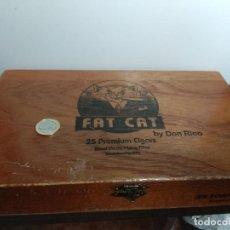 Cajas de Puros: CAJA DE PUROS MADERA FAT CAT REPUBLICA DOMINICANA. Lote 76532066