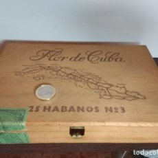 Cajas de Puros: CAJA DE MADERA PUROS FLOR DE CUBA Nº 3. Lote 76535570