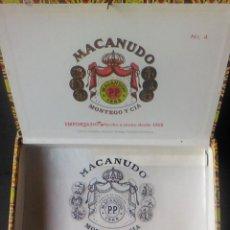 Cajas de Puros: CAJA MADERA PUROS MACANUDO Nº 4 MONTEGO Y CIA. Lote 76876235