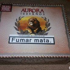 Cajas de Puros: CAJA VACIA PUROS LA AURORA. Lote 77449434