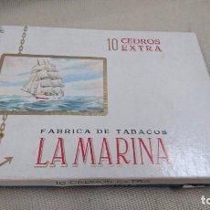 Cajas de Puros: ANTIGUA CAJA DE PUROS LA MARINA CON 6 CEDROS. Lote 80670970