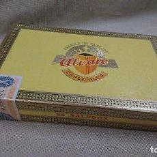 Cajas de Puros: ANTIGUA CAJA DE PUROS ALVARO ESPECIAL 25 SALUDOS . Lote 80672154