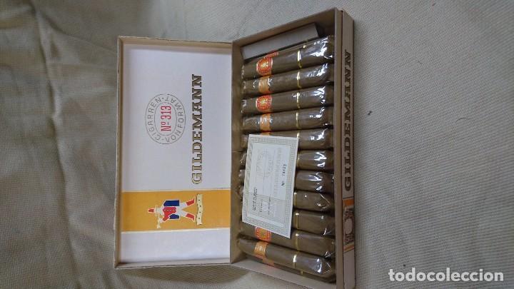 Cajas de Puros: ANTIGUA CAJA DE PUROS GILDEMANN 313 - Foto 2 - 80672618