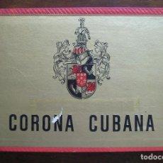 Cajas de Puros: CAJA DE PUROS CORONA CUBANA (VACIA) VER FOTOS. Lote 81277380
