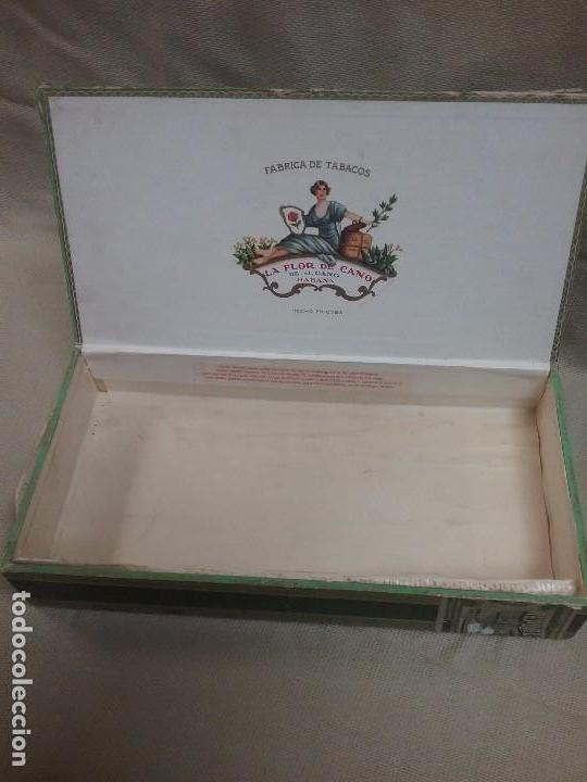 Cajas de Puros: CAJA DE MADERA VACIA DE PUROS LA FLOR DE CANO - J. CANO - HABANA - 25 PREDILECTOS TUBULARES - Foto 2 - 82047776