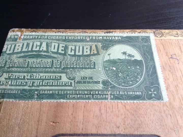 Cajas de Puros: Caja cigarros puros Castañeda. Palmas Finas 25. Cuba Habana Ley Julio 16/1912 - Foto 6 - 115070852