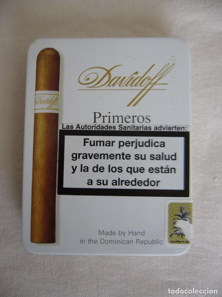 CAJA METÁLICA DE PUROS DAVIDOFF - PITILLERA (Coleccionismo - Objetos para Fumar - Cajas de Puros)