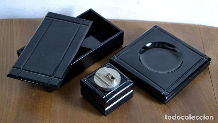 Cajas de Puros: Juego de Fumador en 3 piezas / Cenicero Mechero y Caja Cigarrera Tabaquera Purera - Foto 2 - 85278556