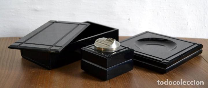 Cajas de Puros: Juego de Fumador en 3 piezas / Cenicero Mechero y Caja Cigarrera Tabaquera Purera - Foto 3 - 85278556