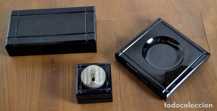 Cajas de Puros: Juego de Fumador en 3 piezas / Cenicero Mechero y Caja Cigarrera Tabaquera Purera - Foto 5 - 85278556