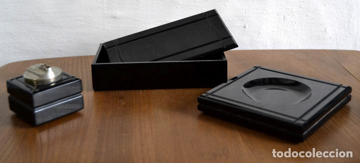 Cajas de Puros: Juego de Fumador en 3 piezas / Cenicero Mechero y Caja Cigarrera Tabaquera Purera - Foto 7 - 85278556