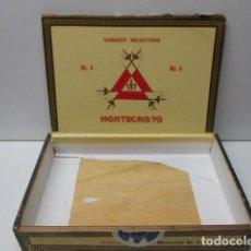 Cajas de Puros: CAJA DE PUROS EN MADERA. 25 MONTECRISTO Nº 4. HABANA, CUBA. VACÍA. . Lote 86244868