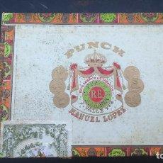 Cajas de Puros: CAJA DE PUROS PUNCH MANUEL LOPEZ HAVANA CUBA. Lote 86340712