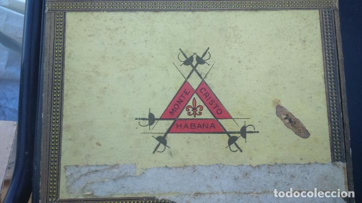 CAJA PUROS MONTECRISTO (Coleccionismo - Objetos para Fumar - Cajas de Puros)