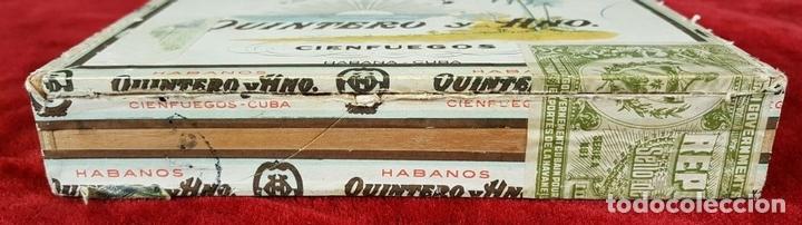 Cajas de Puros: LOTE DE 3 CAJAS DE PUROS EN MADERA. LA HABANA. CUBA. PRINCIPOS SIGLO XX. - Foto 3 - 86368416