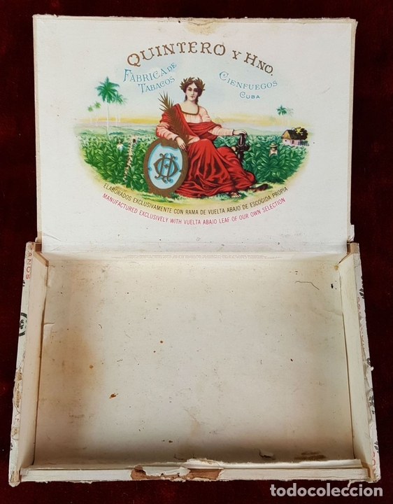 Cajas de Puros: LOTE DE 3 CAJAS DE PUROS EN MADERA. LA HABANA. CUBA. PRINCIPOS SIGLO XX. - Foto 5 - 86368416