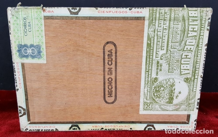 Cajas de Puros: LOTE DE 3 CAJAS DE PUROS EN MADERA. LA HABANA. CUBA. PRINCIPOS SIGLO XX. - Foto 6 - 86368416