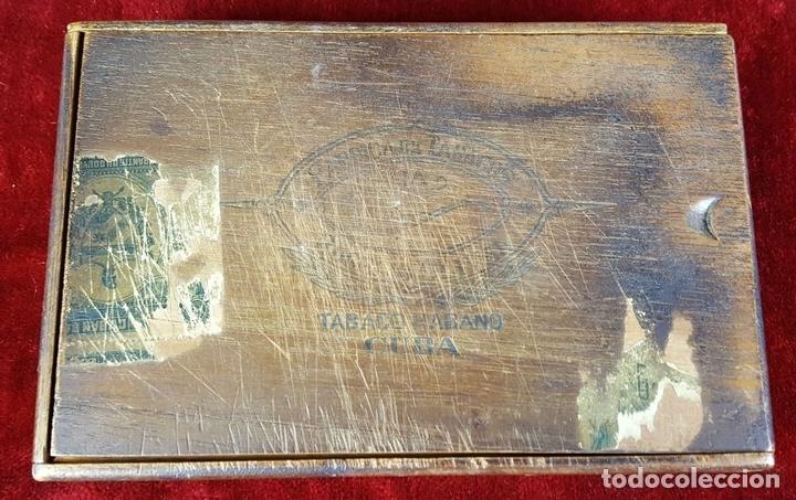 Cajas de Puros: LOTE DE 3 CAJAS DE PUROS EN MADERA. LA HABANA. CUBA. PRINCIPOS SIGLO XX. - Foto 10 - 86368416