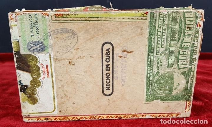 Cajas de Puros: LOTE DE 3 CAJAS DE PUROS EN MADERA. LA HABANA. CUBA. PRINCIPOS SIGLO XX. - Foto 21 - 86368416