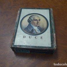 Cajas de Puros: * ANTIGUA CAJA DE TABACO O PUROS DUCE, ITALIANA. ORIGINAL. ITALIA. ZX. Lote 86417692
