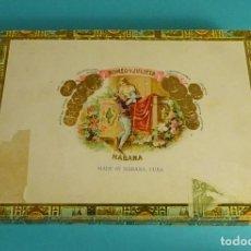 Cajas de Puros: CAJA VACÍA ROMEO Y JULIETA 10 ROMEO Nº 1 TUBOS DE ALUMINIO. Lote 87684600