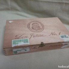 Cajas de Puros: CAJA DE MADERA VACIA DE PUROS DON JULIÁN N° 1 - 25 CIGARROS DE LUJO LA DALIA. Lote 278829338