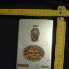 Cajas de Puros: CAJA METÁLICA LATA PUROS ROMEO Y JULIETA HABANA MADE IN CUBA AÑOS 70 VACIA. Lote 89045463