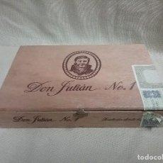 Cajas de Puros: CAJA DE MADERA VACIA DE PUROS DON JULIÁN N° 1 - 25 CIGARROS DE LUJO LA DALIA . Lote 89216388