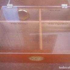 Cajas de Puros: CAJA MADERA EXPOSITORA DE PUROS TABACOS LA PAZ HUMIDIFICADOR ORIGINAL ESTANCO ESPAÑOL. Lote 89529676