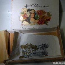 Cajas de Puros: CAJA DE PUROS LA AFRICANA FÁBRICA JUAN CABRERA MARTÍN LA PALMA // MUY DIFICIL. Lote 89771660