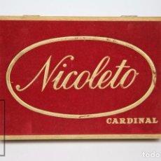 Cajas de Puros: CAJA DE MADERA COMPLETA DE 10 CIGARROS / PUROS DE TABACO - NICOLETO. CARDINAL. Lote 89945800