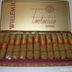 Cajas de Puros: CAJA METALICA LITOGRAFIADA LLENA CON DE 25 PUROS..WILLEM II.. Lote 90760745